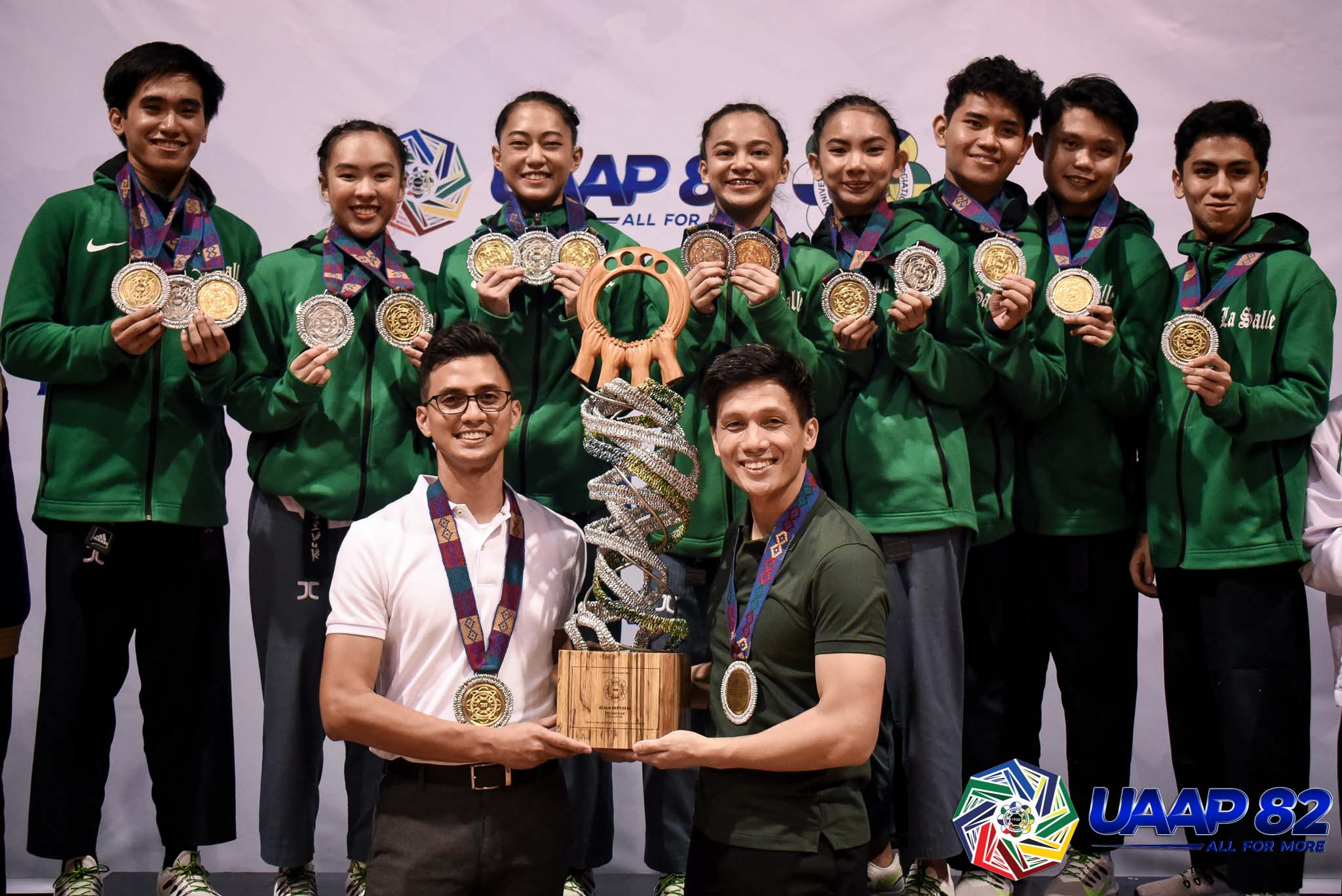 Tiebreaker Times Angelica Gaw gifts La Salle back-to-back UAAP Poomsae titles ADMU DLSU FEU News NU Taekwondo UAAP UP UST  UST Women's Taekwondo UST Men's Taekwondo UP Women's Taekwondo UP Men's Taekwondo UAAP Season 82 Women's Taekwondo UAAP Season 82 Men's Taekwondo UAAP Season 82 Ricco Teraytay Patrick Perez Patricia Jubelag NU Women's Taekwondo NU Men's Taekwondo Marvin Mori Kier Macalino Kate Castillo Jerel Dalida Jade Carno Gretel Delos Martirez FEU Women's Taekwondo FEU Men's Taekwondo DLSU Women's Taekwondo DLSU Men's Taekwondo Ateneo Women's Taekwondo Ateneo Men's Taekwondo Angelica Gaw