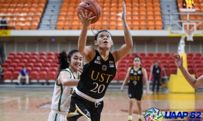 Tiebreaker Times Tantoy Ferrer steps up as UST seals Final Four berth at La Salle's expense Basketball DLSU News UAAP UST  UST Women's Basketball UAAP Season 82 Women's Basketball UAAP Season 82 Tantoy Ferrer Ruby Portillo Grace Irebu DLSU Women's Basketball Cholo Villanueva