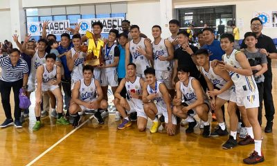 Tiebreaker Times St. Clare survives Enderun for fourth straight NAASCU crown Basketball NAASCU News  Saint Clare College of Caloocan Saints Pipo Noundou Mohammed Pare Michael Dela Cruz Joshua Fontanilla Jinino Manansala Jan Formento Enderun Colleges Titans Emmanuel Maagdenberg Austin Velosa 2019 NAASCU Season
