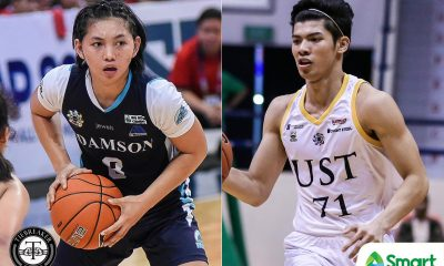 Tiebreaker Times Mar Prado, CJ Cansino hailed as Collegiate PC co-POW AdU Basketball News UAAP UST  UAAP Season 82 Women's Basketball UAAP Season 82 Men's Basketball UAAP Season 82 UAAP Player of the Week Mar Prado CJ Cansino Chooks-to-Go