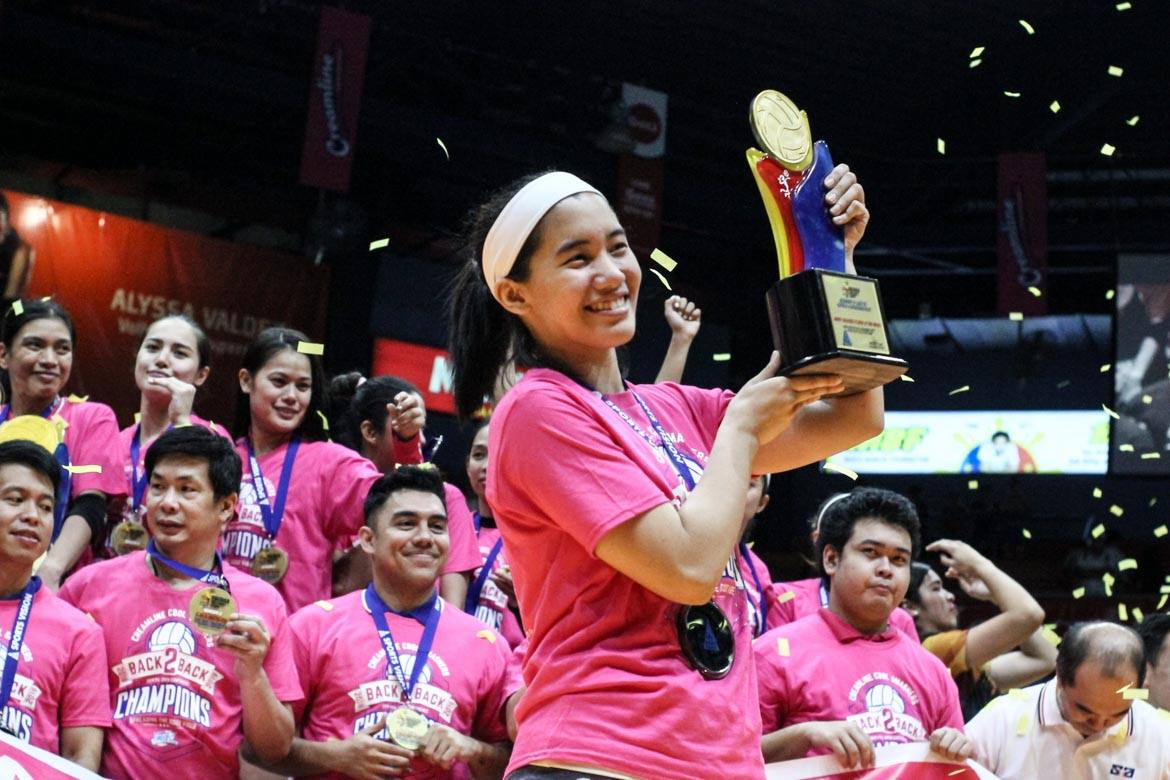 Tiebreaker Times PVL Open Finals MVP Morado shines spotlight on teammates News PVL Volleyball  Jia Morado Creamline Cool Smashers 2019 PVL Season 2019 PVL Open Conference