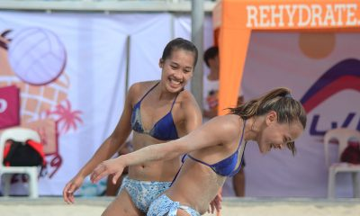 Tiebreaker Times SiPons, Gervacio-Rodriguez in Rebisco Beach Volleyball semis Beach Volleyball News  KR Guzman Jude Garcia Edmar Bonono Dzi Gervacio Dij Rodriguez Cherry Rondina Bernadeth Pons 2019 Rebisco Beach Volleyball International Open