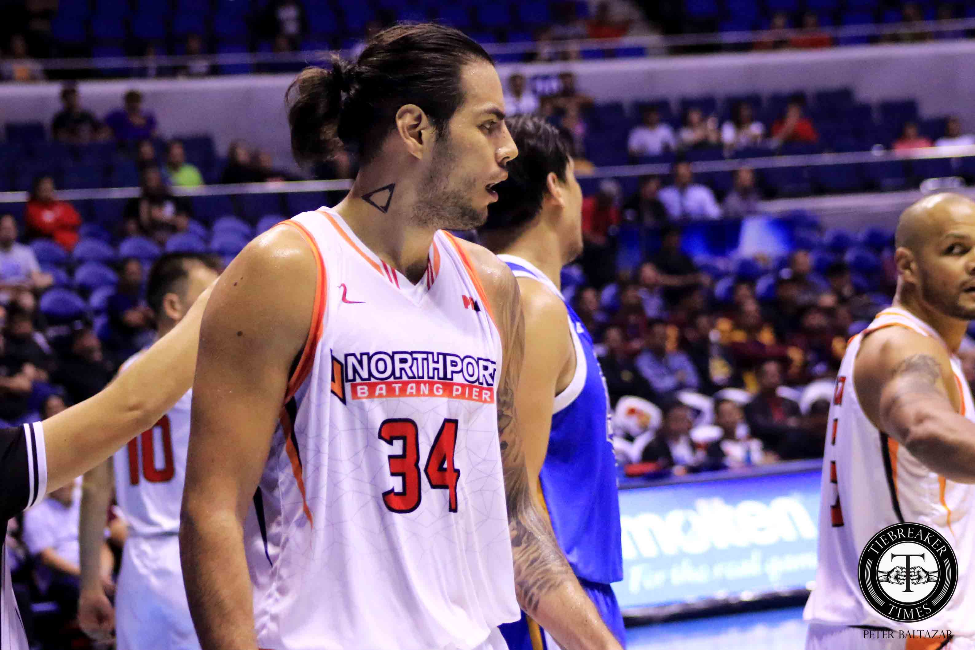 Tiebreaker Times Standhardinger credits record-setting 61-minute game to being in shape Basketball News PBA  PBA Season 44 Northport Batang Pier Christian Standhardinger 2019 PBA Governors Cup