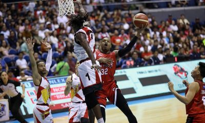 Tiebreaker Times Déjà vu as Barangay Ginebra ends San Miguel's grand slam hopes anew Basketball News PBA  Tim Cone Stanley Pringle San Miguel Beermen PBA Season 44 Mo Tautuaa Marcio Lassiter Leo Austria LA Tenorio Justin Brownlee June Mar Fajardo John Holland Barangay Ginebra San Miguel Alex Cabagnot 2019 PBA Governors Cup