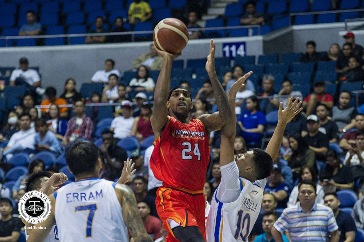 Tiebreaker Times NorthPort disarms top seed NLEX in fight-marred QF tilt Basketball News PBA  Yeng Guiao Sean Anthony Pido Jarencio PBA Season 44 Northport Batang Pier NLEX Road Warriors Michael Qualls manny harris Kiefer Ravena JR Quinahan Jericho Cruz Christian Standhardinger 2019 PBA Governors Cup