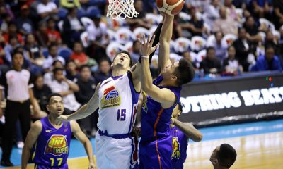 Tiebreaker Times Roger Pogoy suffers apparent back injury late in TNT's QF game Basketball News PBA  TNT Katropa Roger Pogoy PBA Season 44 2019 PBA Governors Cup