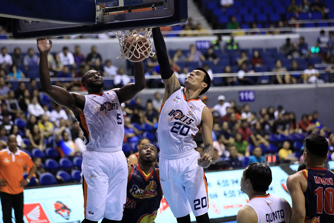 Tiebreaker Times Raymond Almazan relishes facing old team Rain or Shine Basketball News PBA  Raymond Almazan PBA Season 44 Meralco Bolts 2019 PBA Governors Cup