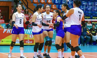 Tiebreaker Times Nationals rout Team Shine in PSL Super Cup opener News PSL Volleyball  Shaq delos Santos Rhea Dimaculangan PSL Shine Philippine Women's National Volleyball Team Mylene Paat MJ Phillips Majoy Baron Maddie Madayag Eya Laure Ces Molina Carl Dimaculangan Aby Marano 2019 PSL Super Cup 2019 PSL Season