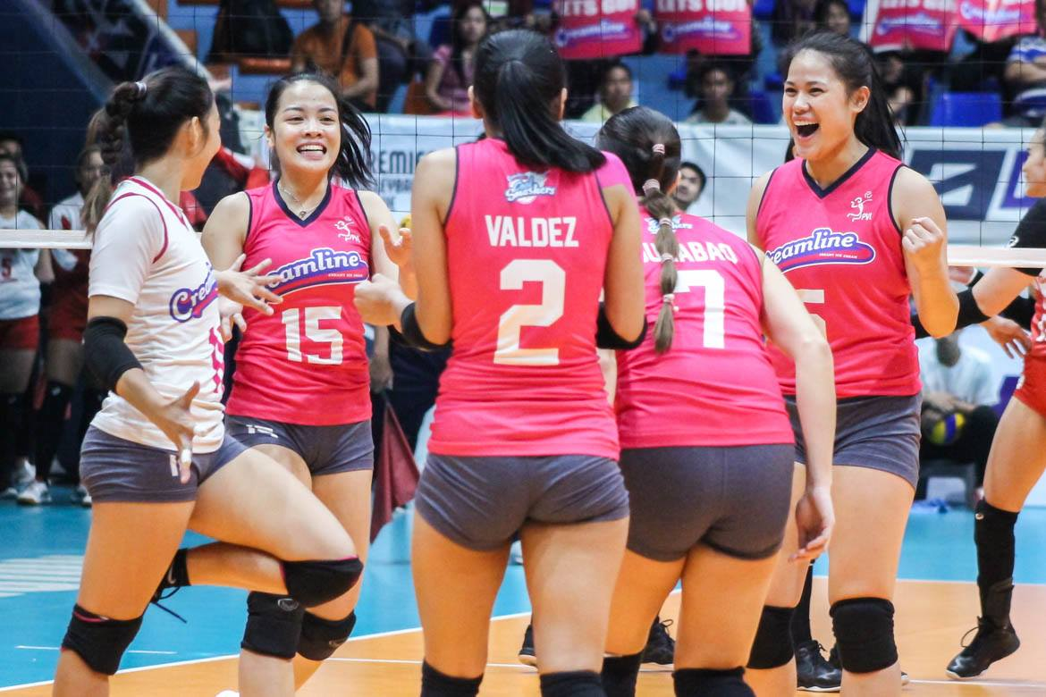 Tiebreaker Times Alyssa Valdez lauds Jema Galanza's clutch performance in Game One News PVL Volleyball  Jema Galanza Creamline Cool Smashers Alyssa Valdez 2019 PVL Season 2019 PVL Open Conference