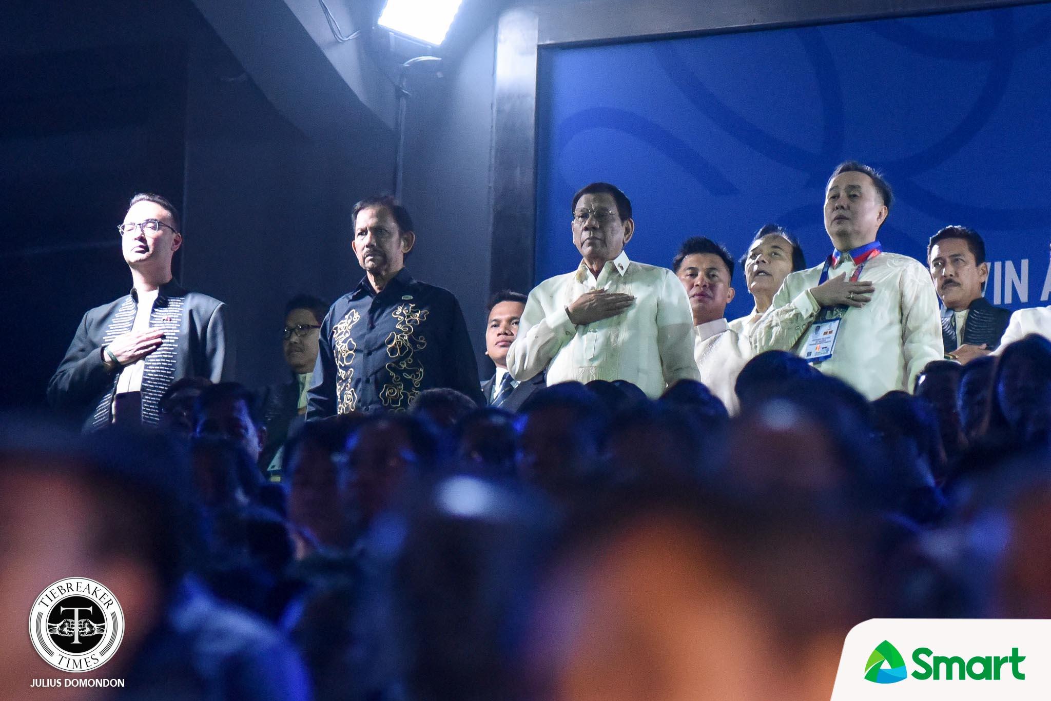 Tiebreaker Times Duterte officially opens 'best and biggest' SEA Games 2019 SEA Games News  Rodrigo Duterte Peter Cayetano Bambol Tolentino 2019 SEA Games