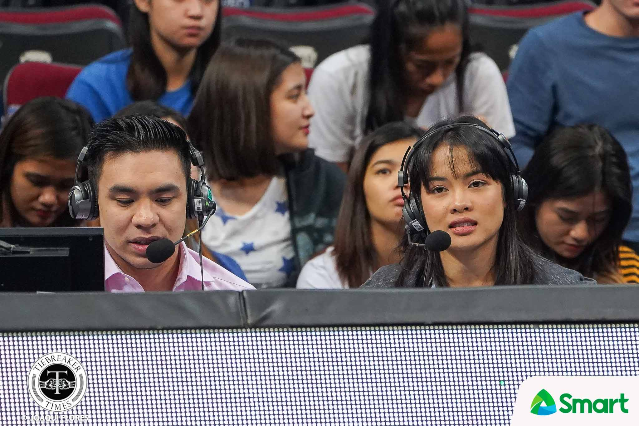 Tiebreaker Times Wanting a change in scenery, Jema Galanza tries commentary NCAA News Volleyball  NCAA Season 95 Women's Volleyball NCAA Season 95 Jema Galanza