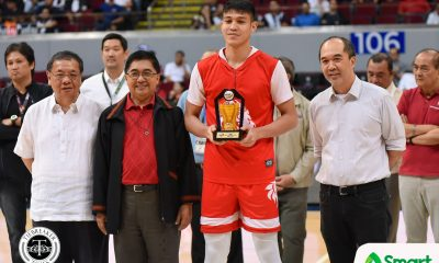 Tiebreaker Times Calvin Oftana receives MVP plum, focused on Game Two AU Basketball CSJL EAC LPU NCAA News SBC SSC-R UPHSD  NCAA Season 95 Seniors Basketball NCAA Season 95 Mike Nzeusseu Justin Arana JP Maguliano JM Calma Jaycee Marcelino James Canlas Fran Yu Evan Nelle Calvin Oftana Ben Adamos Allyn Bulanadi