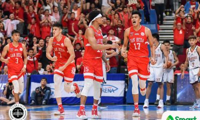 Tiebreaker Times Kemark Carino turns out to be San Beda's 'magic bunot' Basketball NCAA News SBC  San Beda Seniors Basketball NCAA Season 95 Seniors Basketball NCAA Season 95 Larry Muyang Kemark Carino