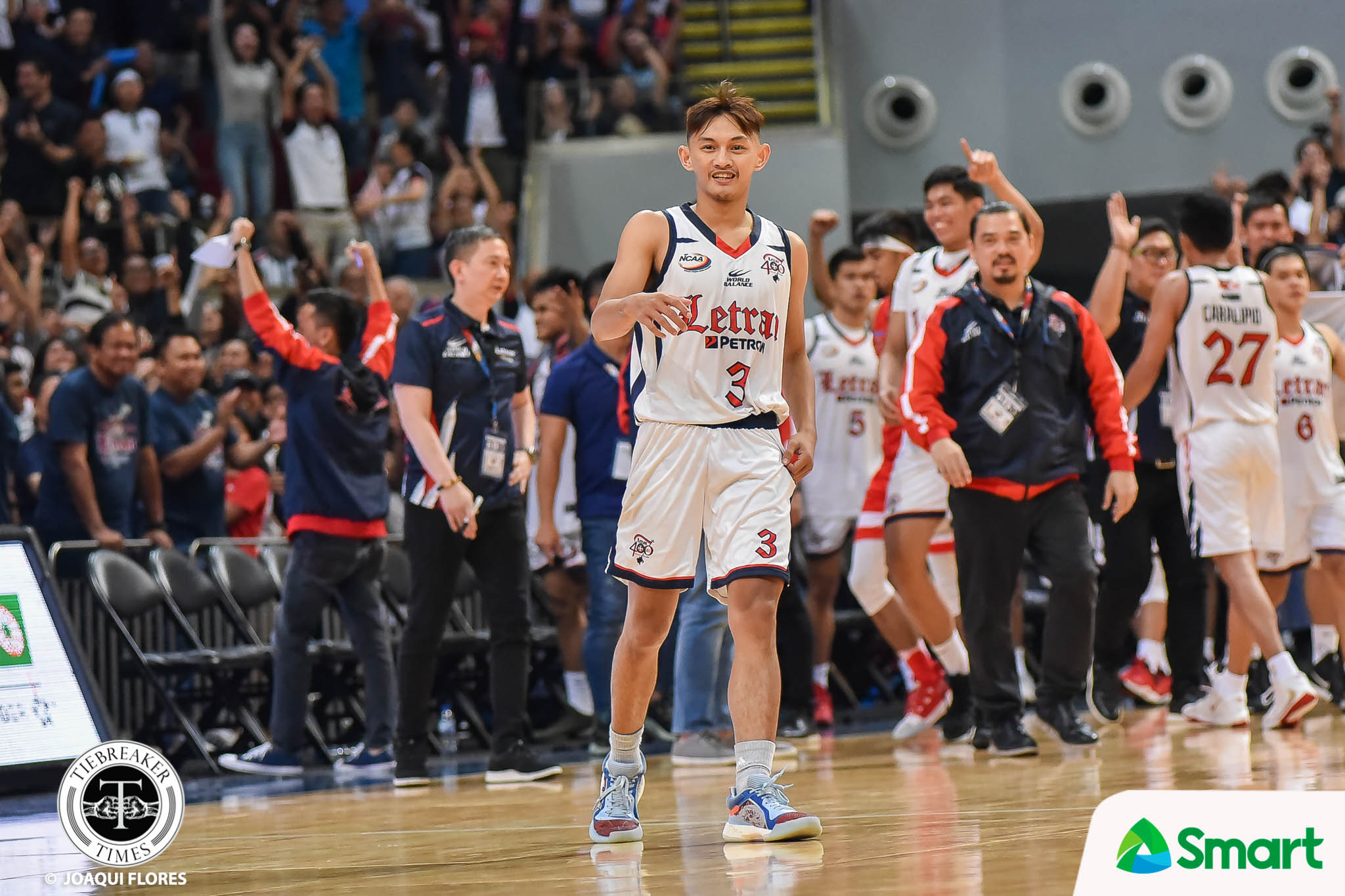 NCAA-95-SBU-vs.-CSJL-G2-Yu-2286 Fran Yu reminds Letran to keep underdog mentality despite title-favorites tag Basketball CSJL NCAA News  - philippine sports news