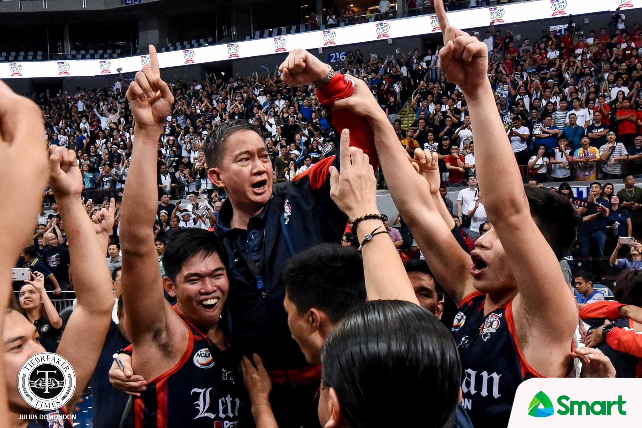 Tiebreaker Times Arellano formally turns over NCAA hosting rights to Letran AU CSJL NCAA News  NCAA Season 96 Fr. Clarence Marquez OP