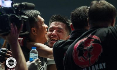 Tiebreaker Times Geje Eustaquio avenges loss to Tauru with walk-off TKO Mixed Martial Arts Muay Thai News ONE Championship  Yoshitaka Naito Toni Tauru Stamp Fairtex Pongsiri Mitsatit Paul Lumihi ONE: Masters of Fate Li Kai Wen Kongsak PK.Saenchaimuaythaigym Han Zi Hao Geje Eustaquio Bi Nguyen