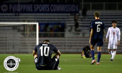 Tiebreaker Times Baas strike not enough as Azkals fall to Myanmar in SEA Games Men's Football 2019 SEA Games Football News Philippine Azkals  Win Naing Tun Stephan Schrock Sann Sat Naing Myanmar (Football) Justin Baas Dennis Chung Aung Kaung Mann Anthony Pinthus 2019 SEA Games - Football 2019 SEA Games
