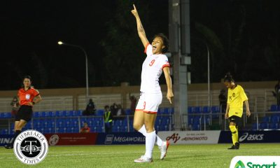 Tiebreaker Times Bolden hat trick powers PWNFT to five-goal rout of Malaysia, SEA Games semis 2019 SEA Games Football News Philippine Malditas  Sarina Bolden Philippine Women's National Football Team Malaysia (Football) Mae Bernal Let Dimzon Inna Palacios Eva Madarang Alisha Del Campo 2019 SEA Games - Football 2019 SEA Games