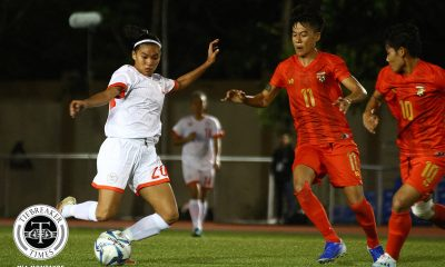 Tiebreaker Times PWNFT held to draw by Myanmar in SEA Games debut 2019 SEA Games Football News Philippine Malditas  Sarina Bolden Quinley Quezada Myanmar (Football) Mya Phu Ngon Let Dimzon Khin Marlar Thun Cam Rodriguez 2019 SEA Games - Football 2019 SEA Games