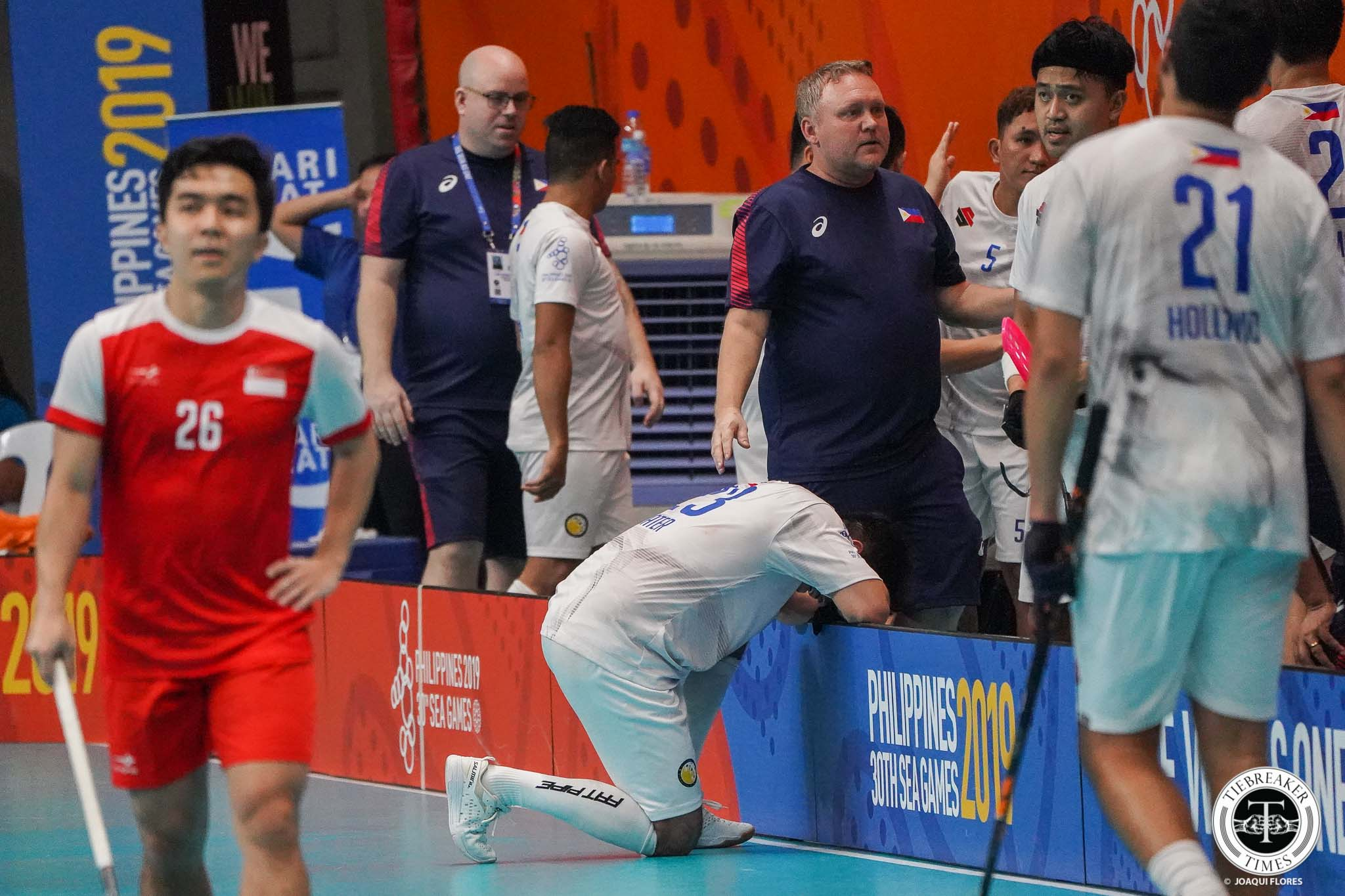 Tiebreaker Times Singapore quashes Philippines' gold hope in SEA Games Men's Floorball 2019 SEA Games Floorball News  SIngapore (Floorball) Ryan Hallden Philippine Men's National Floorball Team Christian Shoultze 2019 SEA Games - Floorball 2019 SEA Games