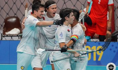 Tiebreaker Times Late Lucas Perez goal gifts Philippines second win in SEA Games floorball 2019 SEA Games Floorball News  Philippine Men's National Floorball Team Patrik Shoultze Malaysia (Floorball) Lucas Perez Hazzaer Talingdan Christian Shoultze 2019 SEA Games