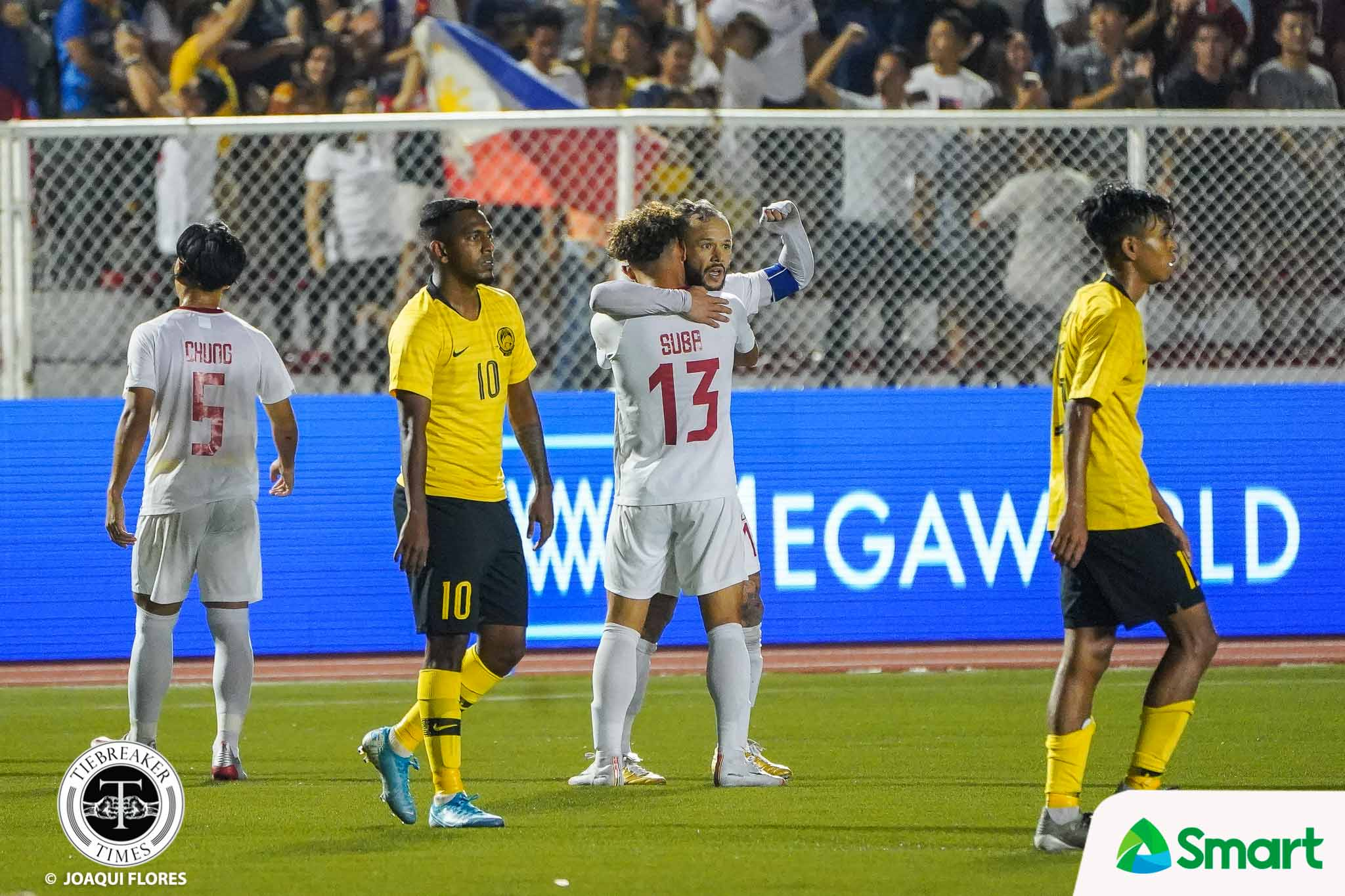 Tiebreaker Times Schrock strikes as Philippine Azkals revitalize semifinals bid with Malaysia scalp 2019 SEA Games Football News Philippine Azkals  Stephan Schrock Muhammad Haziq Nadzli Malaysia (Football) Chima Uzoka Anthony Pinthus Amani Aguinaldo Abdul Razak 2019 SEA Games - Football 2019 SEA Games