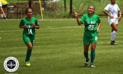 Tiebreaker Times FEU continues to impress as La Salle moves nine points clear at PFFWL top DLSU FEU Football News PFF Women's League UP  UP Women's Football Tuloy FC Tejanee Isulat Stallion-Hiraya FC Sofia Dungca Shane Cosgrove Samantha Green Philip Dinglasan Noamds FC Moira Lim Maroons FC Marinelle Cristobal Mariane Caparros Mae Ann Caw-It Let Dimzon Kamea Mangrobang Joyce Onrubia Itsuko Bacatan Haya Ibarra Green Archers United FC Glory Ann Lado Franco Bambico FEU Women's Football DLSU Women's Football Dionesa Tolentin Arantxa Del Mundo Andrea Montilla Alyssa Ube Alvin Ocampo Alisha Del Campo 2019 PFFWL Season