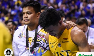 Tiebreaker Times Mark Nonoy inconsolable as career game ends with Game One loss Basketball News UAAP UST  UST Men's Basketball UAAP Season 82 Men's Basketball UAAP Season 82 Mark Nonoy
