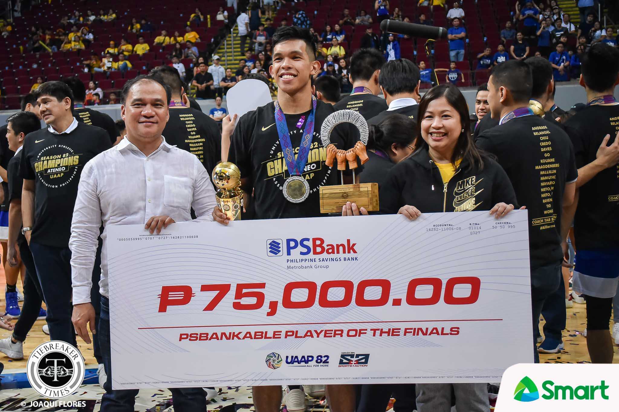 Tiebreaker Times Thirdy Ravena becomes first-ever three-time UAAP Finals MVP ADMU Basketball News UAAP  UAAP Season 82 Men's Basketball UAAP Season 82 Thirdy Ravena