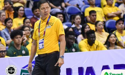 Tiebreaker Times Olsen Racela does not want stepladder exit to define FEU's season Basketball FEU News UAAP  Wendelino Comboy UAAP Season 82 Men's Basketball UAAP Season 82 Olsen Racela Hubert Cani FEU Men's Basketball