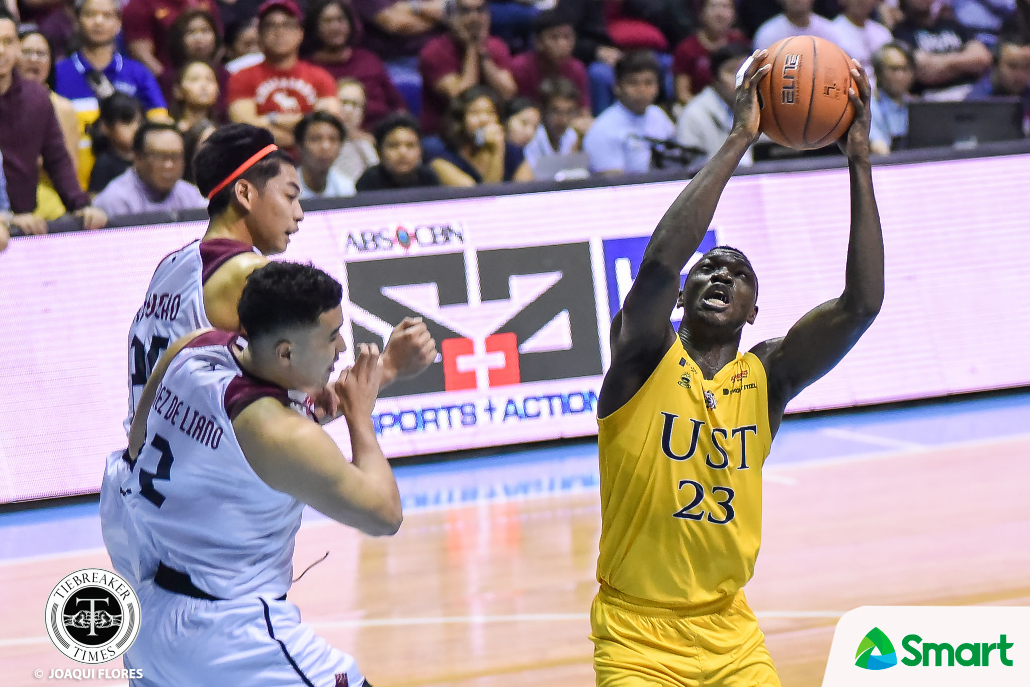 Tiebreaker Times Chabi Yo says Akhuetie match-up was really tough Basketball News UAAP UP  UP Men's Basketball UAAP Season 82 Men's Basketball UAAP Season 82 Bright Akhuetie