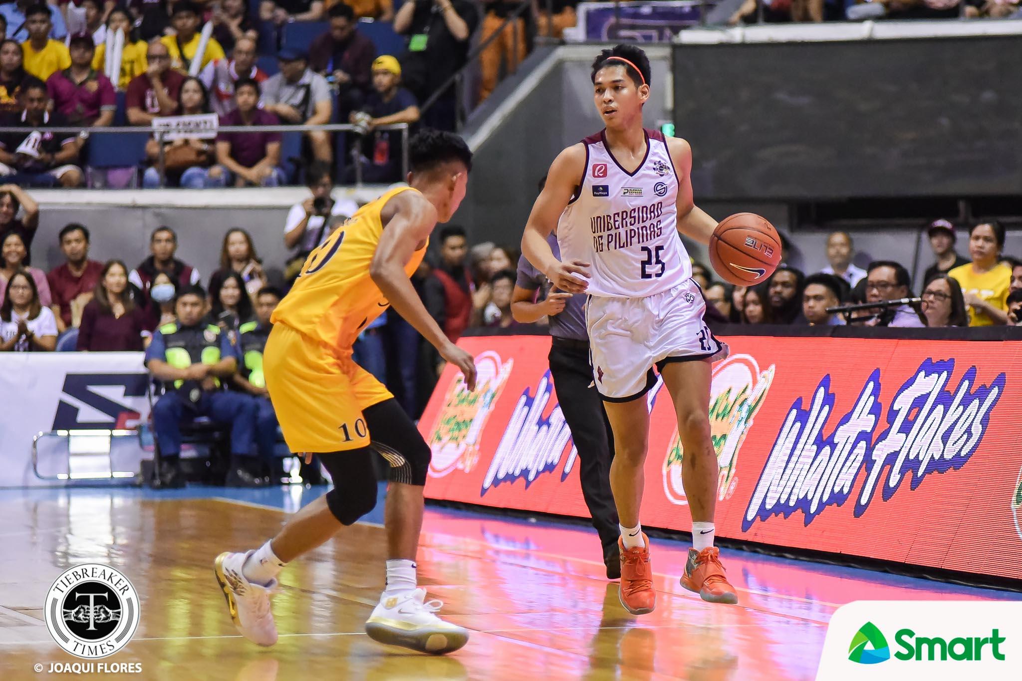 Tiebreaker Times Ricci Rivero downplays hand injury Basketball News UAAP UP  UP Men's Basketball UAAP Season 82 Men's Basketball UAAP Season 82 Ricci Rivero Bo Perasol