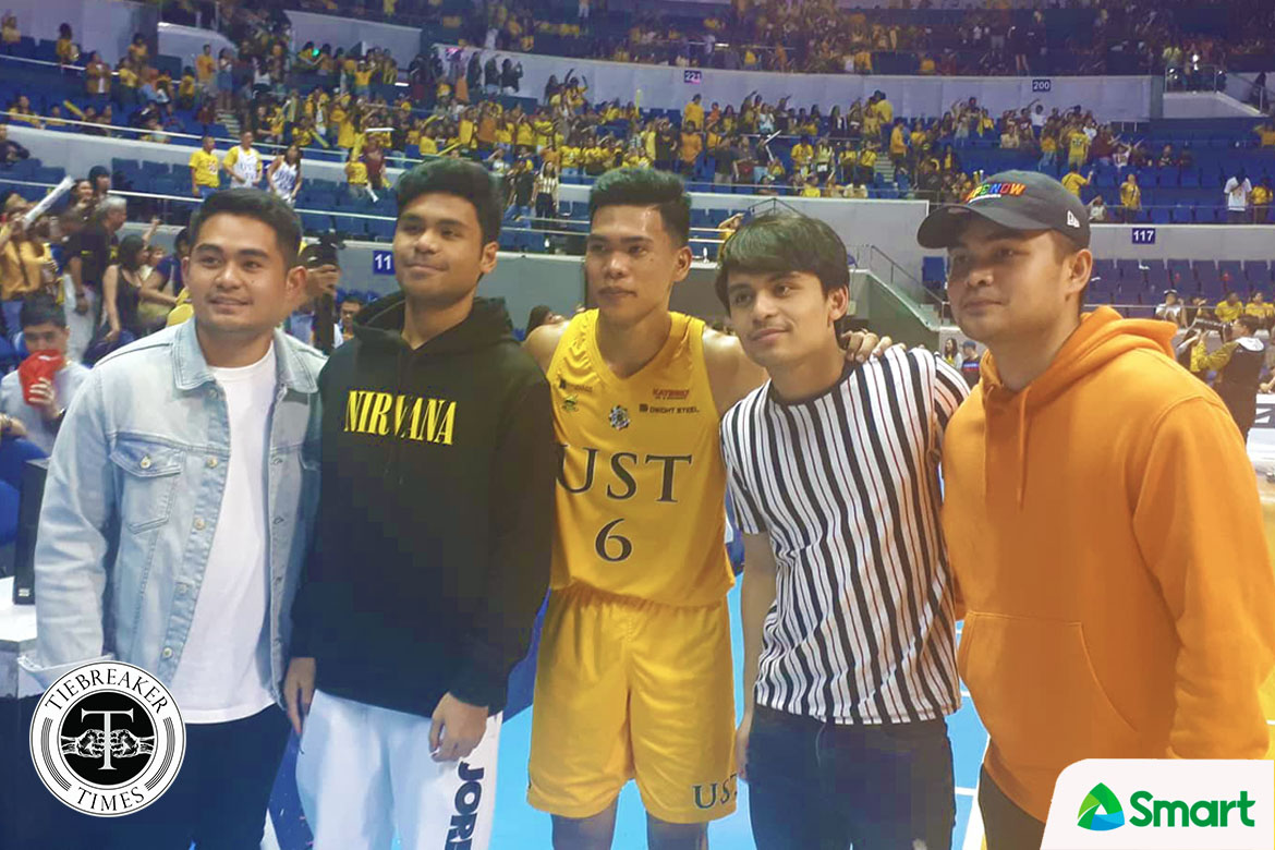 Tiebreaker Times Mark Nonoy gains new fans in Pacquiao brothers Basketball News UAAP UST  UST Men's Basketball UAAP Season 82 Men's Basketball UAAP Season 82 Mark Nonoy Jimuel Pacquiao