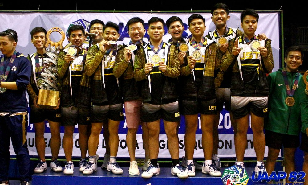 Tiebreaker Times UST repeats over NU, takes back-to-back UAAP Men's Table Tennis crowns News NU Table Tennis UAAP UST  UST Men's Table Tennis UAAP Season 82 Men's Table Tennis UAAP Season 82 Romualdo Ramiro Reymark Mabuang Prince Garcia NU Men's Table Tennis Mcleen Dizon Louie Llamas Jon Cinchongco Franz Mogol