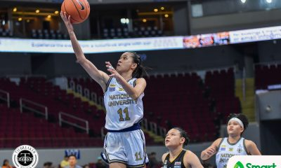 Tiebreaker Times Pingol, Cacho step up for Animam, leads NU to Game One win over UST Basketball News NU UAAP UST  UST Women's Basketball UAAP Season 82 Women's Basketball UAAP Season 82 Tacky Tacatac Rhena Itesi NU Women's Basketball Mikka Cacho Kelli Hayes Kaye Pingol Haydee Ong Grace Irebu