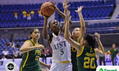 Tiebreaker Times Grace Irebu ends UST Growling Tigresses' 13-year Finals drought Basketball FEU News UAAP UST  Valerie Mamaril UST Women's Basketball UAAP Season 82 Women's Basketball UAAP Season 82 Princess Jumuad Lon Rivera Haydee Ong Grace Irebu FEU Women's Basketball Eka Soriano Clare Castro Blanche Bahuyan Bert Flores
