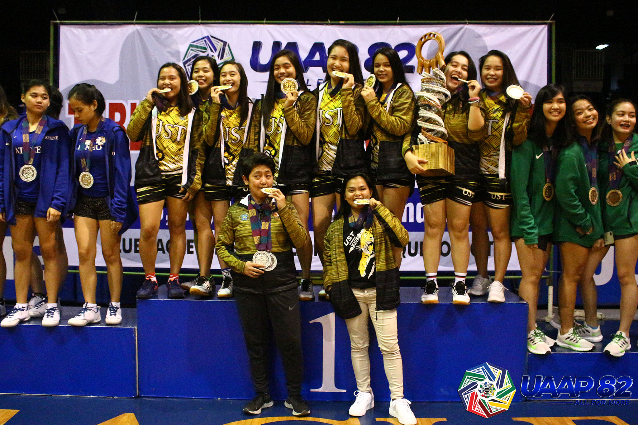 Tiebreaker Times UST claws gallant Ateneo, roars to 13th UAAP Women's Table Tennis tiara ADMU News Table Tennis UAAP UST  UST Women's Table Tennis UAAP Season 82 Women's Table Tennis UAAP Season 82 Sherlyn Gabisay Shaeena Ronquillo Lorinda Wadjad Leigh Villanueva Kathleene Bulaquena Kaela Aguilar Emery Digamon Danica Alburo Ateneo Women's Table Tennis Ann Borbon
