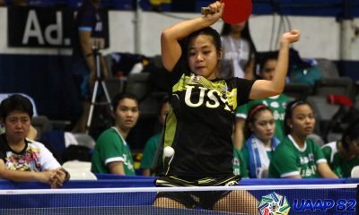 Tiebreaker Times UST overtakes La Salle in UAAP Women's Table Tennis ADMU AdU DLSU FEU News NU Table Tennis UAAP UE UP UST  UST Women's Table Tennis UP Women's Table Tennis UE Women's Table Tennis UAAP Season 82 Women's Table Tennis UAAP Season 82 Sheena Ronquillo NU Women's Table Tennis Kate Encarnacion FEU Women's Table Tennis DLSU Women's Table Tennis Ateneo Women's Table Tennis Adamson Women's Table Tennis