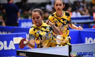 Tiebreaker Times UST dominates in UAAP Women's Table Tennis title-retention bid opener ADMU AdU DLSU FEU News NU Table Tennis UAAP UE UP UST  UST Women's Table Tennis UP Women's Table Tennis UE Women's Table Tennis UAAP Season 82 Women's Table Tennis UAAP Season 82 NU Women's Table Tennis Leigh Villanueva Kathleen Tempiatura FEU Women's Table Tennis DLSU Women's Table Tennis Ciara Derecho Ateneo Women's Table Tennis Adamson Women's Table Tennis
