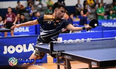Tiebreaker Times NU paces UAAP Men's Table Tennis Day 1 leaders ADMU AdU DLSU FEU News NU Table Tennis UAAP UE UP UST  UST Men's Table Tennis UP Men's Table Tennis UE Men's Table Tennis UAAP Season 82 Men's Table Tennis UAAP Season 82 Reymark Mabuang NU Men's Table Tennis Francis Bendebel FEU Men's Table Tennis DLSU Men's Table Tennis Ateneo Men's Table Tennis