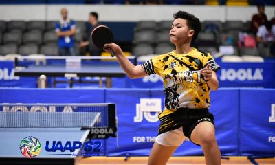 Tiebreaker Times UST takes lead in UAAP Boys', Girls' Table Tennis ADMU AdU DLSU News NU Table Tennis UAAP UE UP UST  UST Girls Table Tennis UST Boys Table Tennis UP Girls Table Tennis UP Boys Table Tennis UE Girls Table Tennis UE Boys Table Tennis UAAP Season 82 High School Table Tennis UAAP Season 82 NU Boys Table Tennis Louese Allavado Gerald Dayahan DLSZ Girls Table Tennis Ateneo Boys Table Tennis Adamson Girls Table Tennis Adamson Boys Table Tennis