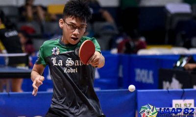 Tiebreaker Times Eljah Yamson lifts DLSZ to UAAP Boys Table Tennis Finals showdown vs UST DLSU News NU Table Tennis UAAP UE  UE Boys Table Tennis uaap season 82 boys table tennis UAAP Season 82 NU Boys Table Tennis Johncarlo Facun Jerfferson Manalao Harvey Facun Elijah Yamson Earnst Salloman DLSZ Boys Table Tennis Andrei Villacruel