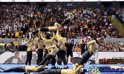 Tiebreaker Times FEU Cheering Squad proves that Michael Jackson never loses in UAAP CDC Cheerleading FEU News UAAP  UAAP Season 82 Cheerdance Competition UAAP Season 82 Randell San Gregorio FEU Cheering Squad