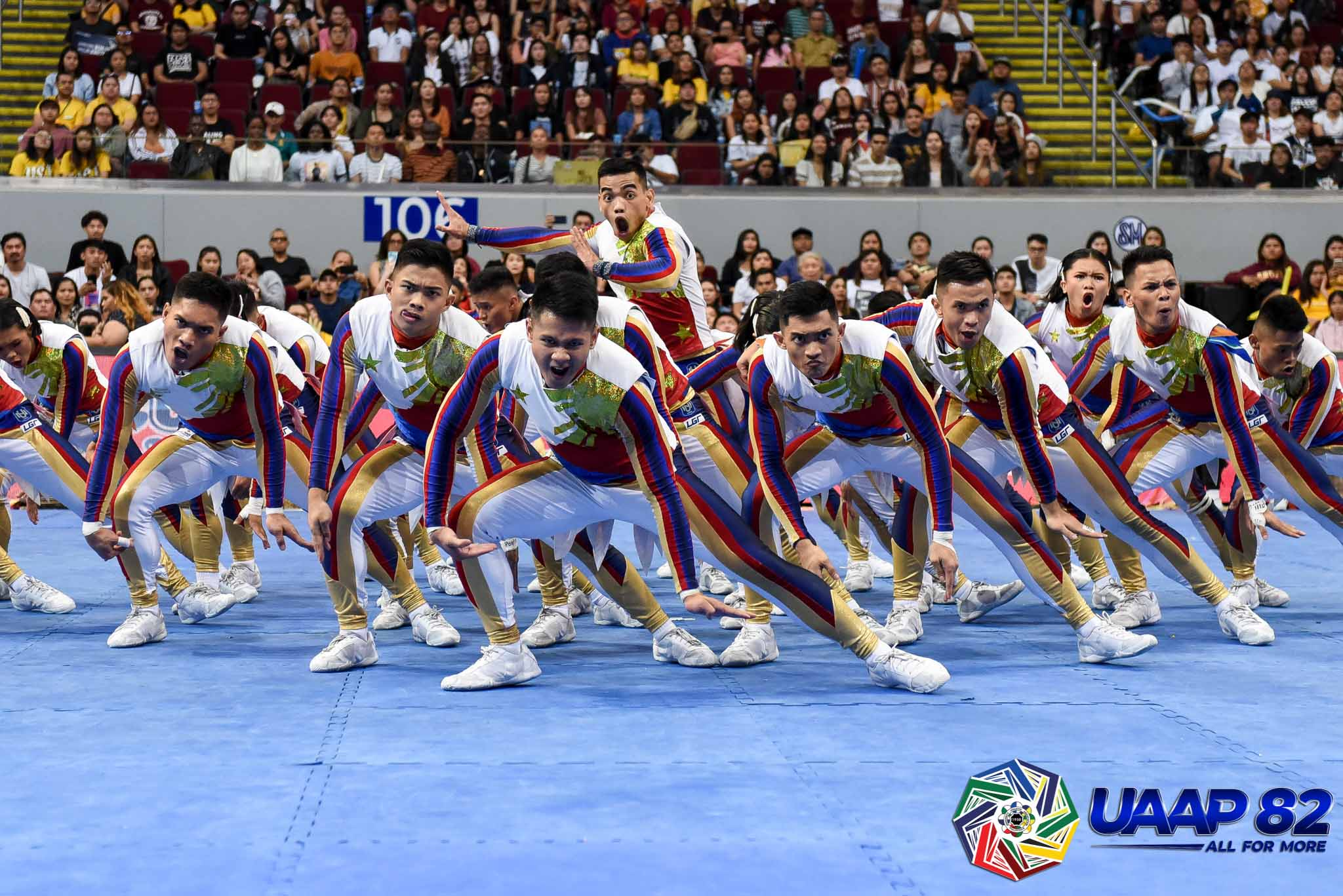 Tiebreaker Times NU Pep Squad gives back with 'Balikbayan' performance Cheerleading News NU UAAP  UAAP Season 82 Cheerdance Competition UAAP Season 82 NU Pep Squad Ghicka Bernabe