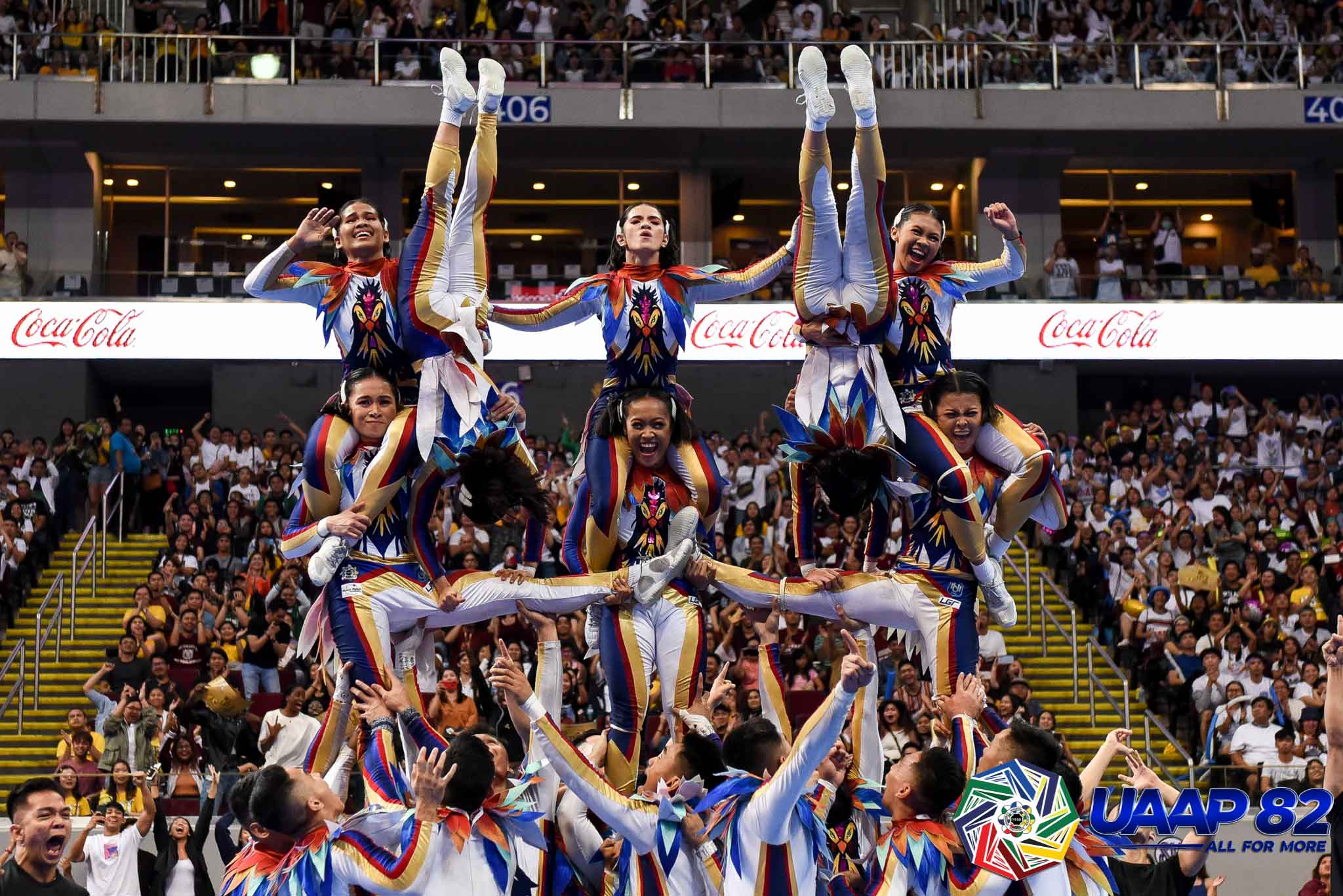 UAAP82-CDC-23RD-PHOTO-NU NU Pep Squad gives back with 'Balikbayan' performance Cheerleading News NU UAAP  - philippine sports news