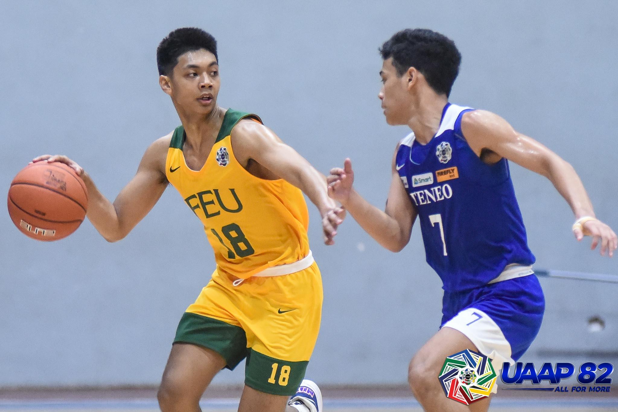UAAP82-JUNIORS-BASKETBALL-4TH-PHOTO-FEU-JORICK-BAUTISTA NU Bullpups roll to 3-0 as FEU-D deals Ateneo first loss ADMU AdU Basketball DLSU FEU News NU UAAP UE UP UST  - philippine sports news