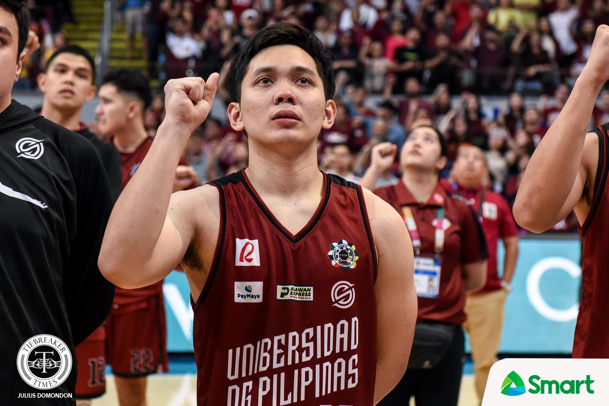Tiebreaker Times Jun Manzo has no regrets with final foul that ended time in UP Basketball News UAAP UP  UP Men's Basketball UAAP Season 82 Men's Basketball UAAP Season 82 Jun Manzo
