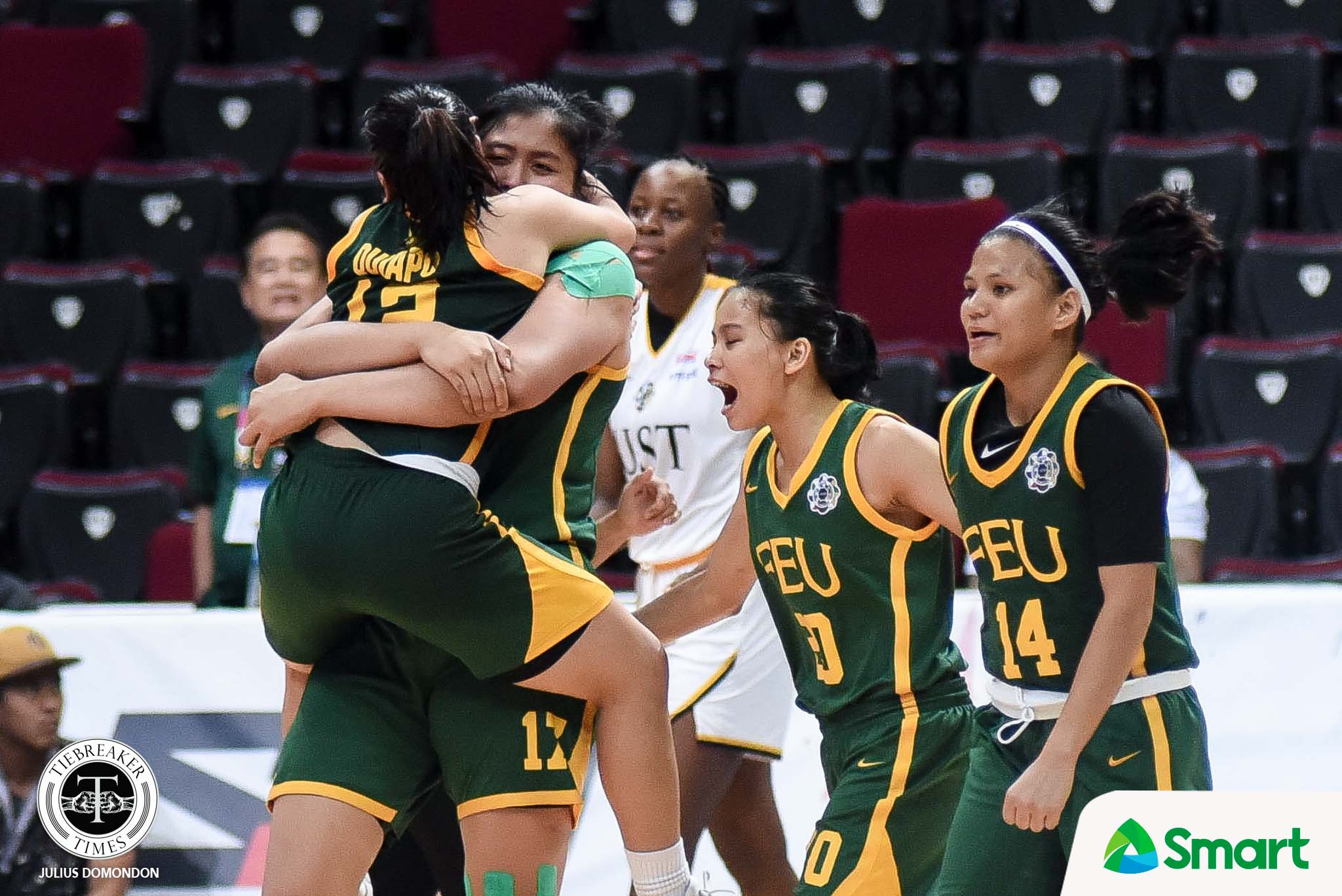Tiebreaker Times FEU Lady Tamaraws live to fight another day, disarm UST Basketball FEU News UAAP UST  Valerie Mamaril UST Women's Basketball UAAP Season 82 Women's Basketball UAAP Season 82 Ruby Portillo Haydee Ong Grace Irebu FEU Women's Basketball fatima quiapo Clare Castro Bert Flores