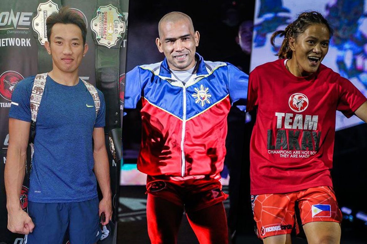 Tiebreaker Times Team Lakay, CFS stalwarts banner ONE athletes representing PH in SEA Games Kickboxing News ONE Championship  Team Lakay ruel catalan Rene Catalan Mark Sangiao Jerry Olsim Jean Claude Saclag Gina Iniong Catalan Fighting System
