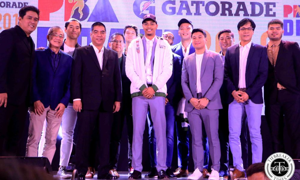 Tiebreaker Times Roosevelt Adams picked by Columbian as top pick in PBA Regular Draft Basketball News PBA  TNT Katropa Sean Manganti Roosevelt Adams Rain or Shine Elasto Painters Prince Rivero PBA Season 45 Northport Batang Pier NLEX Road Warriors Mike Ayonayon Maurice Shaw Magnolia Hotshots Kib Montalbo Columbian Dyip Clint Doliguez Christian Balagasay Barkley Ebona Barangay Ginebra San Miguel Arvin Tolentino Aris Dionisio Alaska Aces Adrian Wong 2019 PBA Commissioners Cup